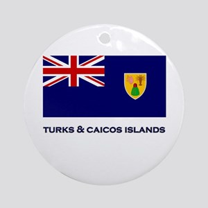 The Turks & Caicos Islands Flag Gear Ornament (Rou