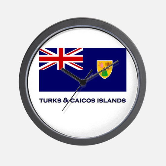 The Turks & Caicos Islands Flag Gear Wall Clock