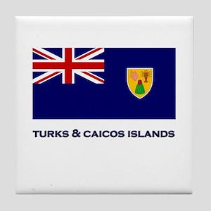 The Turks & Caicos Islands Flag Gear Tile Coaster