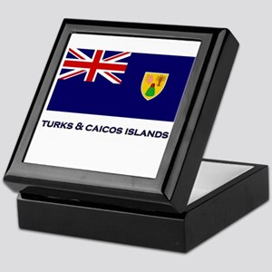 The Turks & Caicos Islands Flag Gear Keepsake Box