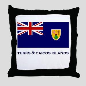 The Turks & Caicos Islands Flag Gear Throw Pillow