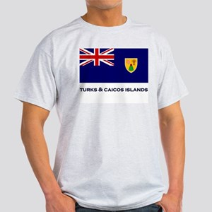The Turks & Caicos Islands Flag Gear Ash Grey T-Sh