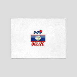 My Love Belize 5'x7'Area Rug