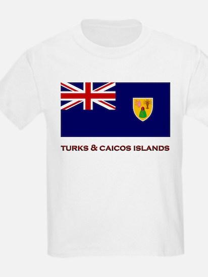 The Turks & Caicos Islands Flag Merchandise Kids T