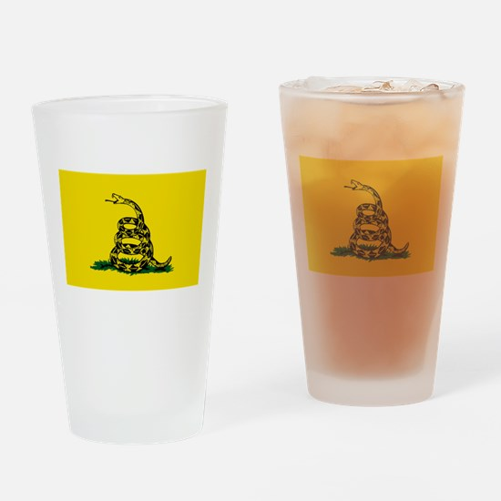 Cute Dont tread on me flags Drinking Glass