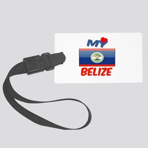 My Love Belize Large Luggage Tag