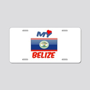 My Love Belize Aluminum License Plate