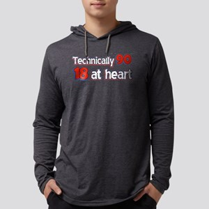 90 year old designs Mens Hooded Shirt