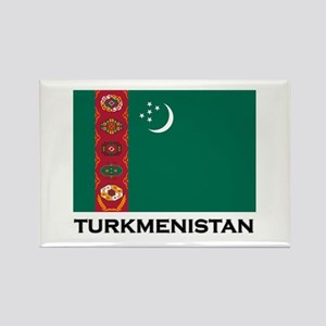 Turkmenistan Flag Stuff Rectangle Magnet