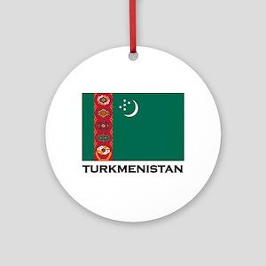 Turkmenistan Flag Stuff Ornament (Round)