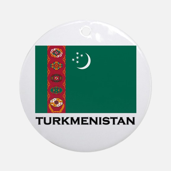 Turkmenistan Flag Stuff Ornament (Round)