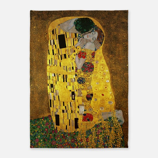 Gustav Klimt The Kiss 5'x7'Area Rug