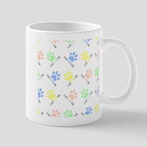 Cat lover design cat paw prints colorful cat Mugs