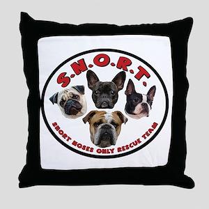 S.N.O.R.T. Logo Throw Pillow