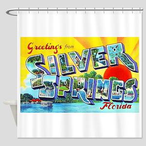 Silver Springs Florida Greetings Shower Curtain