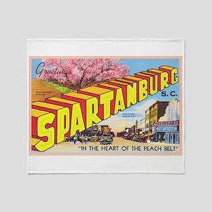 Spartanburg South Carolina Throw Blanket