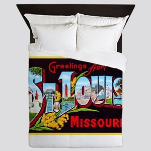 St Louis Missouri Greetings Queen Duvet