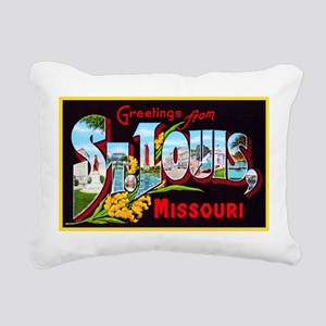 St Louis Missouri Greetings Rectangular Canvas Pil