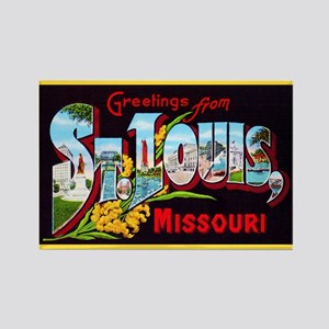 St Louis Missouri Greetings Rectangle Magnet