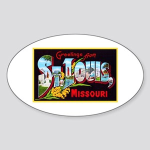 St Louis Missouri Greetings Sticker (Oval)
