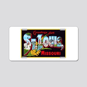 St Louis Missouri Greetings Aluminum License Plate