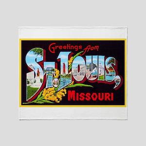 St Louis Missouri Greetings Throw Blanket