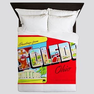 Toledo Ohio Greetings Queen Duvet
