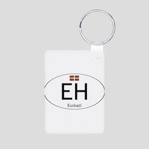 Basque white Aluminum Photo Keychain