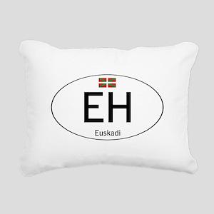 Basque white Rectangular Canvas Pillow
