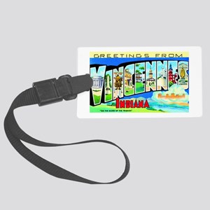 Vincennes Indiana Greetings Large Luggage Tag
