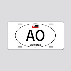 Car code Maori White Aluminum License Plate