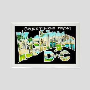 Washington DC Greetings Rectangle Magnet
