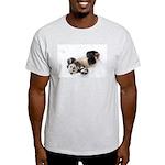 Panda Rolling In Snow Light T-Shirt