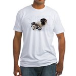 Panda Rolling In Snow Fitted T-Shirt