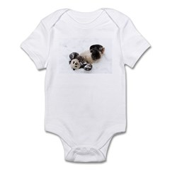 Panda Rolling In Snow Infant Bodysuit