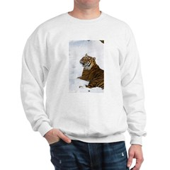 Tiger Laying In Snow Sweatshirt