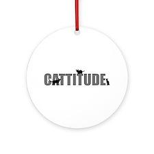 Cattitude Ornament (Round)