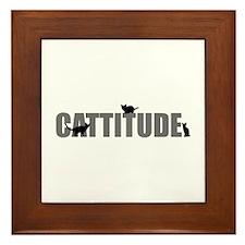 Cattitude Framed Tile