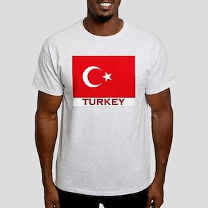 Turkey Flag Merchandise Ash Grey T-Shirt