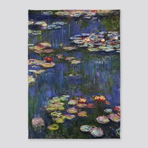 Claude Monet Water Lilies 5'x7'Area Rug