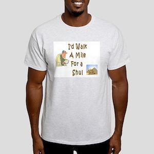 Walk to Shul Ash Grey T-Shirt