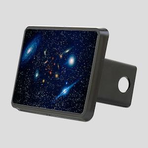 Artwork of various galaxies showing red shift - Hi