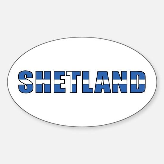 Shetland Islands Oval Decal