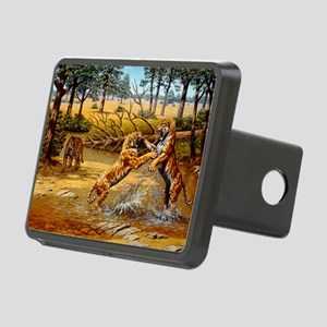 Sabre-toothed cats fighting - Hitch Cover