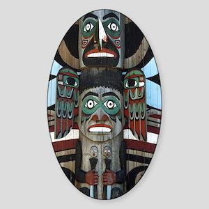 Totem Pole Sticker (Oval)