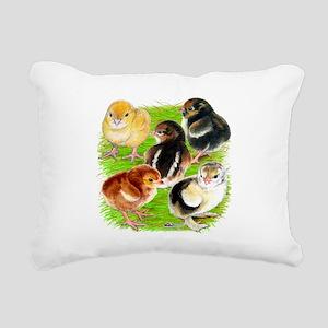 Five Chicks Rectangular Canvas Pillow