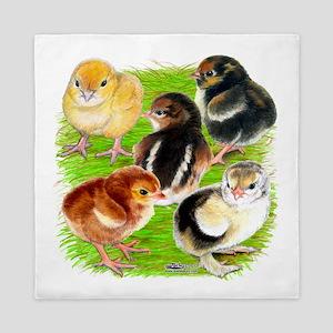 Five Chicks Queen Duvet