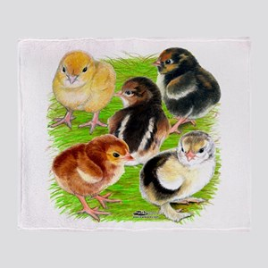 Five Chicks Throw Blanket