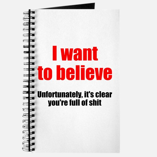 I want to believe Journal