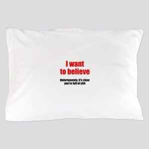 I want to believe Pillow Case